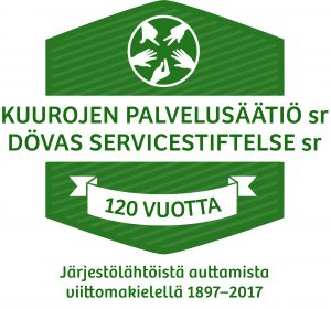 Kuurojen palvelusäätiö on toiminut jo yli 120 vuotta.